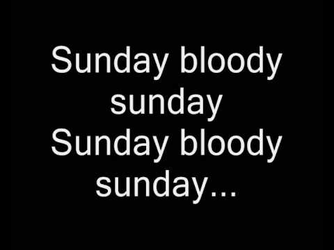 Sunday Bloody Sunday from Pillar lyrics Video