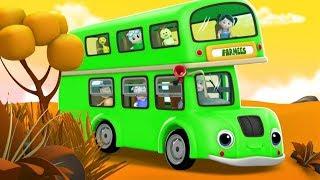 Wheels On The Bus | Kindergarten Nursery Rhymes For Children | Cartoons by Farmees