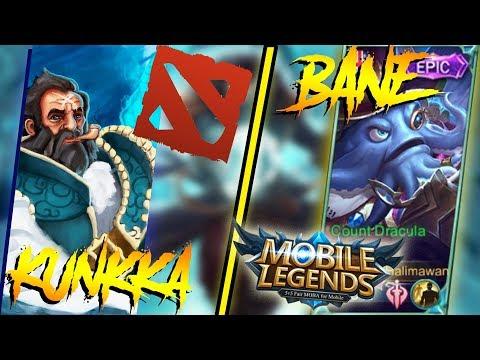 BANE EPIC MENYAINGI KUNKKA DOTA 2!! - MOBILE LEGEND INDONESIA