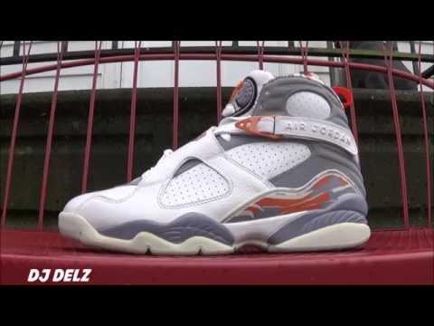 Air Jordan 8 Orange Blaze Shoe Detailed Review Including On Feet With @DjDelz