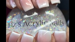 Acrylic Nails | Pink And White Ombre