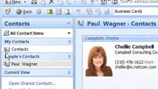 Sharing Contacts in OUtlook 2007