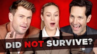 """The Cast Of """"Avengers: Endgame"""" Tries To Survive Thanos's Snap"""