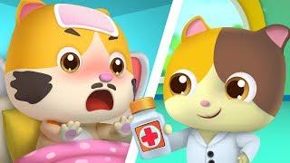 Daddy Cat Got Sick   Doctor Song   Sick Song   Nursery Rhymes   Kids Songs   Baby Cartoon   BabyBus