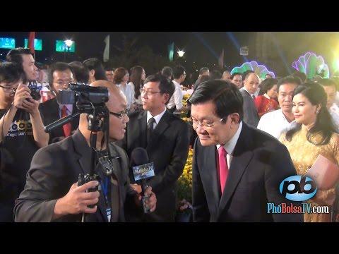 Một phút bất chợt với Chủ tịch Nhà nước Việt Nam Trương Tấn Sang