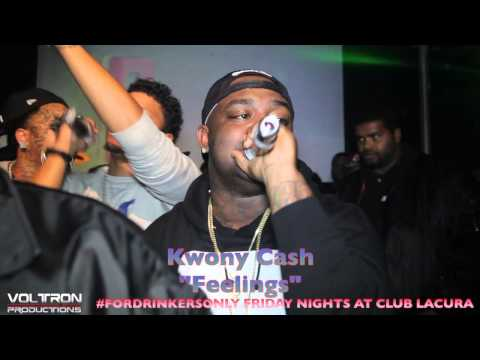Kwony Cash Performs feelings Live At Club Lacura 2013 #fordrinkersonly video
