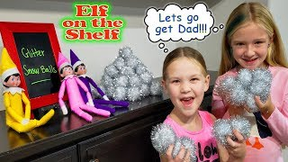 Indoor Magic Glitter Snowball Fight! Elf On The Shelf Day 5!!!