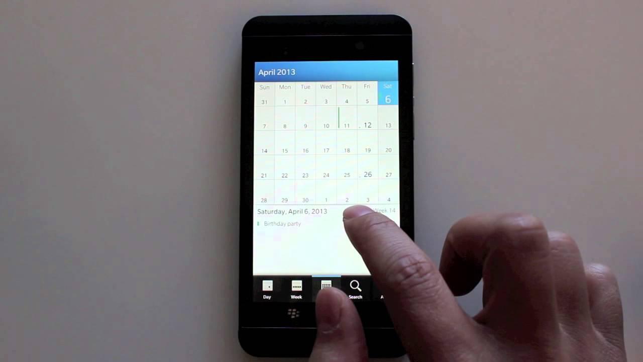 how to delete calendar events blackberry z10 youtube