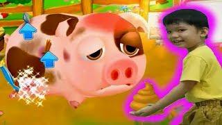 Nông trại của bé tập 5 Nuti dọn phân heo và chăm sóc heo bệnh Kênh trẻ em - video cho bé yêu