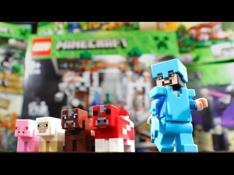 6 NEW MINECRAFT LEGO SETS! (Building & Review)