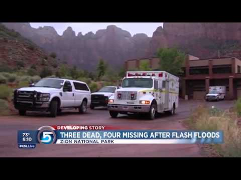 4 dead, 3 missing after flash flooding in Zion