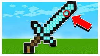 WHATS INSIDE A GIANT MINECRAFT DIAMOND SWORD?