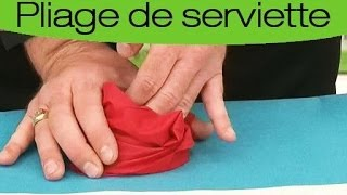 Play plier serviette en tui couvertsmpg - Pliage de serviette en flocon ...
