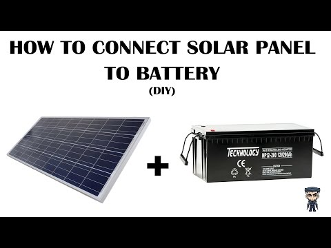 How to connect Solar panel to a battery via a charge controller (DIY)