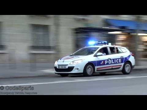 Voiture de la police nationale // Paris Police Car Responding