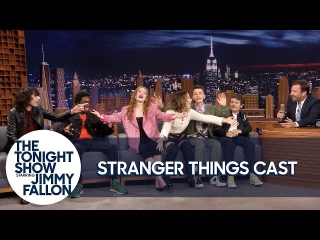 """The Stranger Things Cast Teaches Jimmy the """"Chicken Noodle Soup"""" Song thumbnail"""