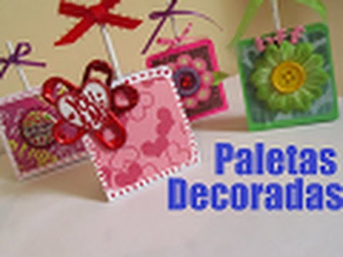Detalle para san valentin paletas decoradas youtube - Detalles para decorar ...
