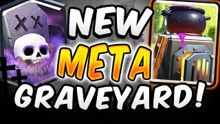 NEW Graveyard Is UNSTOPPABLE! Best Graveyard Deck In Clash Royale!