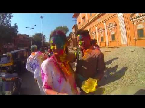 Holi 2014, Jaipur India GoPro HD