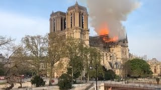 NOTRE DAME CATHEDRAL FIRE: Flames engulf iconic structure in Paris, France