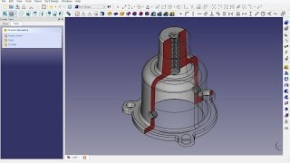 FreeCAD 0.16 (5604) : Mechanical drawing H19B-1