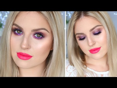 Bold & Bright Purple Spring Makeup! ♡ Chit Chat Tutorial!