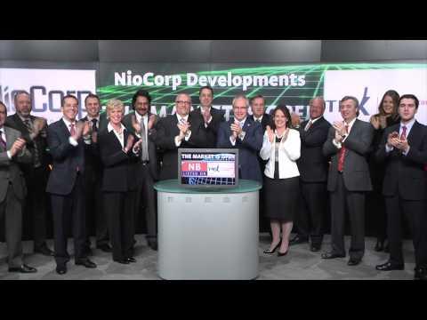 NioCorp Developments Ltd. (TSX:NB) opens Toronto Stock Exchange, March 11, 2015.