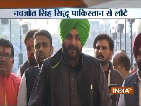 Navjot Singh Sidhu returns to India, says don't know who is Gopal Chawla