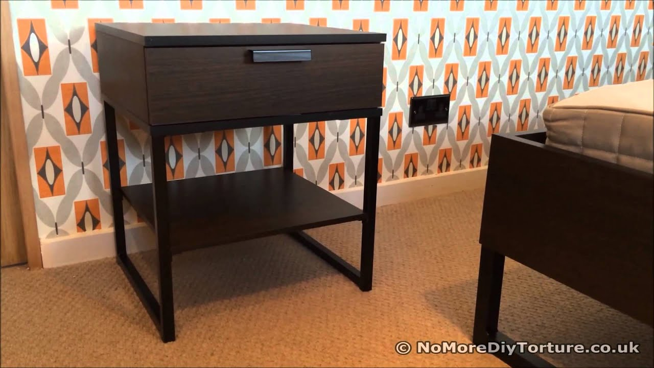 Ikea trysil bedside table youtube - Ikea bed frame with attached nightstand ...