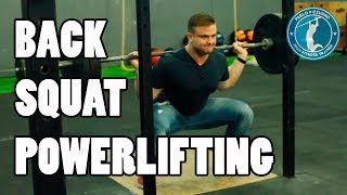 BACK SQUAT EN POWERLIFTING