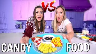 Making FOOD out of CANDY Challenge ft. Alisha Marie!