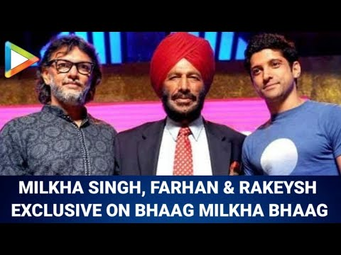 Farhan Akhtar, Milkha Singh & Rakeysh Mehra on Bhaag Milkha Bhaag