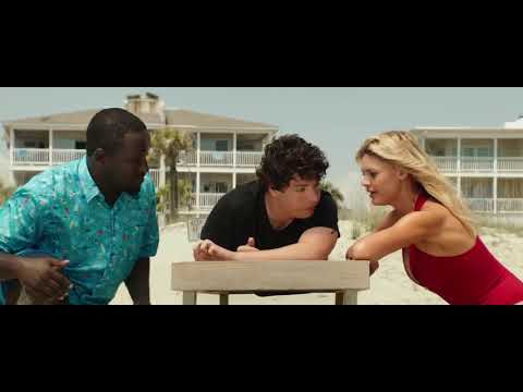 "Baywatch (2017),  Jon Base ""My balls are stuck""  scene"