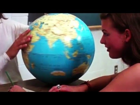 Dazed and confused Australian continent on globe slow motion!