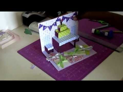 how to make glitter pop out of a card
