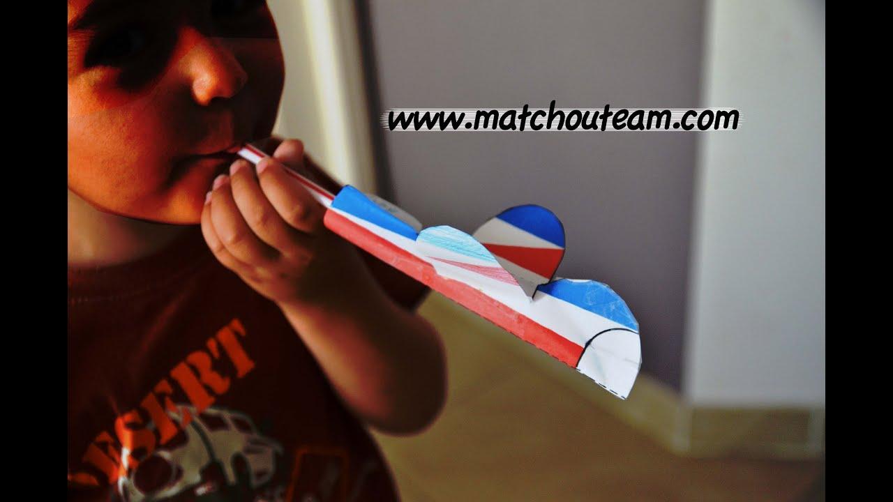 Bricolage enfant avion papier et paille youtube - Bricolage facile pour enfant ...