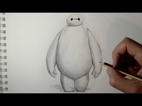 Cómo dibujar a Baymax de Big Hero 6 con lápiz