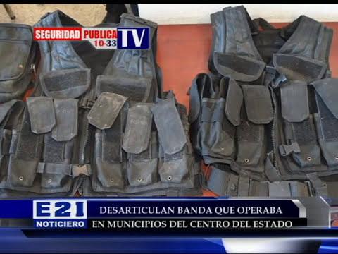 Capturan a banda delincuencial que operaba en el centro de San Luis Potosí