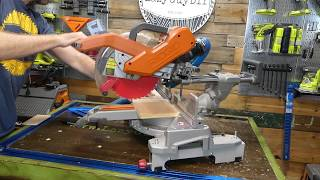 Lazy Guy DIY Quick Tip: Dado Cuts With A Sliding Miter Saw