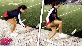 Cheerleader's 'Invisible Box' Stunt Is INSANE (Video)