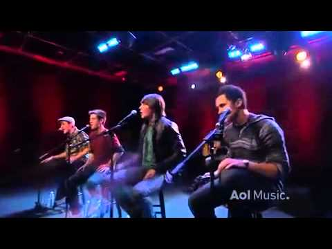 Big time rush - Beautiful Christmas Acoustic - AOL Music Set.flv