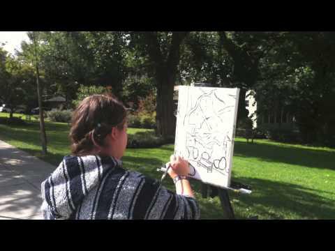 Scenes From Georgetown Day School Plein Air Painting