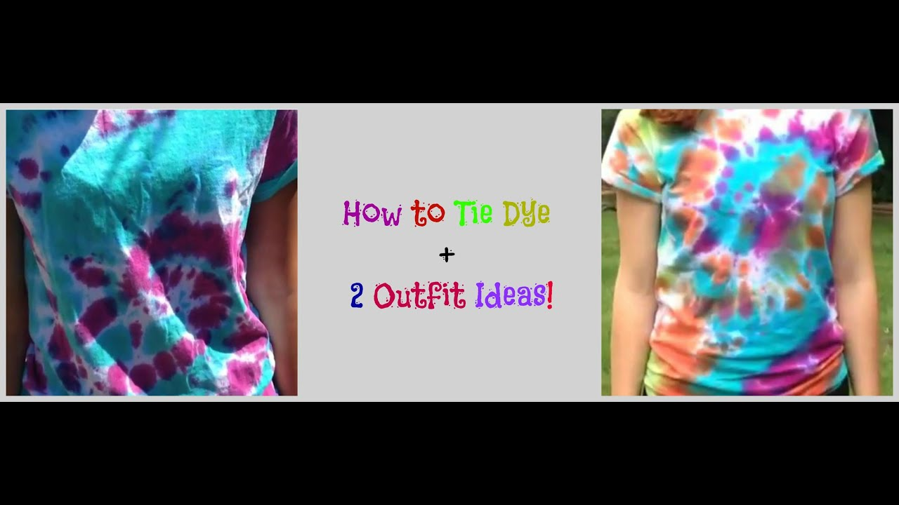 How to tie dye poster board