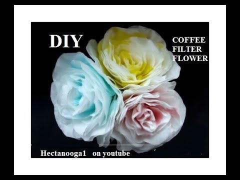 PAPER FLOWERS, How to make ELEGANT PAPER ROSE, from coffee filters