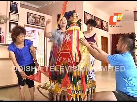 インドのテレビ『Odisha tv』に日本人、出演!FOREIGNER IN LOVE WITH JAGANNATH.
