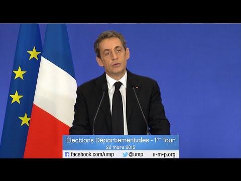 Discours de Nicolas Sarkozy - 1er tour des élections départementales