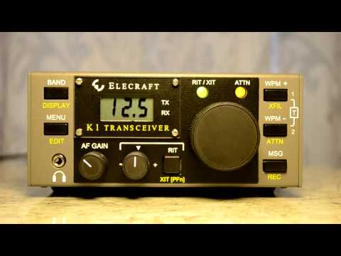 Elecraft K1 CW Qrp Transceiver Kit. Operating on 15 meters