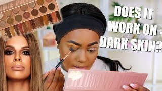LAURA LEE LOS ANGELES NUDIE PATOOTIE PALETTE ON DARK SKIN