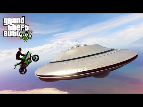 INSANE UFO MOTORBIKE STUNT! - (GTA 5 Top 10 Stunts)
