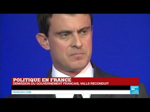 France : Manuel Valls présente la démission de son gouvernement